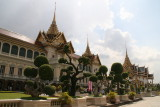 Chakri Maha Prasat Throne Hall, a 19th century styled building with traditional Thai stucco roof, 1 of marvels of Grand Palace