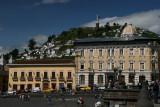 view towards Panecillo and La Virgin de Quito