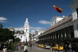 Cathedral on left and Presidential Palace on right