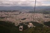 teleferico up the flanks of Volcano Pichincha