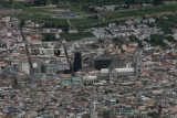 views onto Quito from top