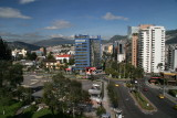 view from Hotel Quito on to Quito