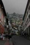 hilly streets of Quito