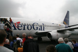 taking Aerogal from Quito to Galapagos