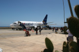 Galapagos airport is on Baltra Island