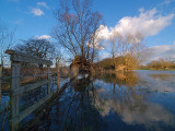 River Thame in Flood 1 by Bruce Clarke