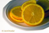 Oranges on White Plate