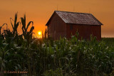 Sunset behind the Old Barn