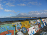 Pico through the ever present clouds as seen from the port of Horta