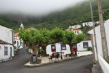 A village center on the island of Flores
