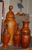 Teak vases