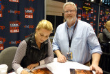 Laurie Holden with Jon