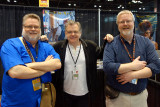 Kevin McNally and a couple o' pirates