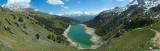 Upper lake at Barrage de Plan d'Amont, France