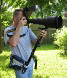 nikon 600mm f4 and monopod holder