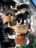 Warm fur hats on a cold December day - Szentendre