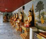 Corridor of Buddha images