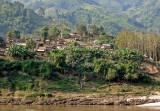 Village with teak forest