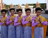 Performers in lavender