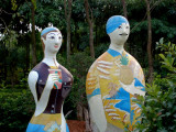 Painted wooden couple