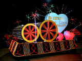 Electric parade: love for humanity float