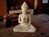 Buddha image carved in wood