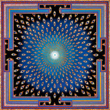 Eyes Mandala by Paul Heussenstamm, modern