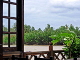 Bangpakong River seen thru a window