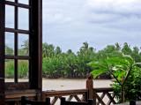 Bangpakong River seen thru a window