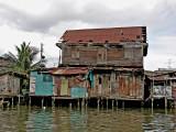 Crumbling teak house