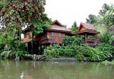 Teak houses on stilts