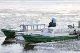 Taxi boats at Moosonee docks November 5th