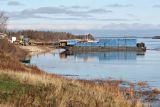 Barges docked at Moosonee November 7, 2006