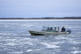 Boat on the Moose River near Moosonee