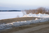 View of the Moose River from Revillon Road North in Moosonee