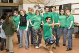 Katimavik volunteers who organized Earth Day programs in Moosonee