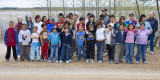 Bishop Belleau School students and teachers involved in Moosonee's annual cleanup