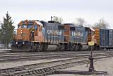 Mixed train 421 in Moosonee