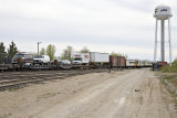 Transition from freight to passenger equipment.