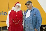 Santa Claus came to Moosonee in July