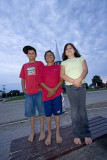Three on a bench