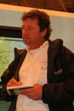 Lionel Lemonchois, skipper du trimaran ORMA Gitana 11 vainqueur de la Route du Rhum 2006