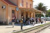 La gare de l'Ile Rousse d'où part le petit train pour Calvi