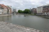Visite de la ville de Lille- le quai du Vault dernier bassin d'eau de Lille