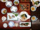 A simple dinner, Shinchaya ryokan
