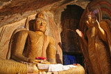 Cave temple Buddha images