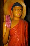 Cave temple modern Buddha image