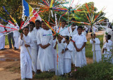 Poya parade near Dambulla