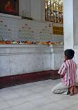 Praying at the Sri Maha Bodi