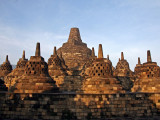Borobudur: the circular terraces